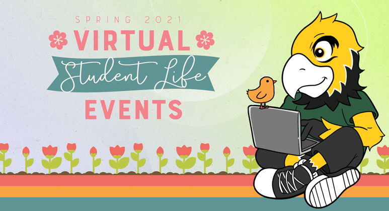 spring virtual student life events graphic
